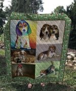 Theartsyhomes Beagle Dog 3D Personalized Customized Quilt Blanket ESR38