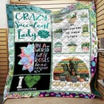 Theartsyhomes CRAZY SUCCULENT 3D Personalized Customized Quilt Blanket ESR38