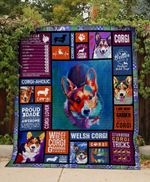 Theartsyhomes Corgi aholic 3D Personalized Customized Quilt Blanket ESR30
