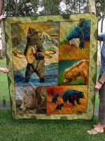 Theartsyhomes Bear V2 3D Personalized Customized Quilt Blanket ESR25