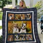 Theartsyhomes Boston Terrier Qui18001 3D Personalized Customized Quilt Blanket ESR26