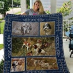Theartsyhomes English Setter Qui27003 3D Personalized Customized Quilt Blanket ESR44