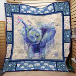 Theartsyhomes Elephant F2103 83o33 3D Personalized Customized Quilt Blanket ESR31