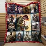 Theartsyhomes Female Paladins Nvt-Qct002 3D Personalized Customized Quilt Blanket ESR49