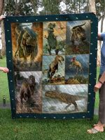 Theartsyhomes Dinosaur V8 3D Personalized Customized Quilt Blanket ESR45