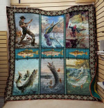 Theartsyhomes Fishing: Fisher 3D Personalized Customized Quilt Blanket ESR6