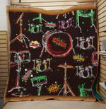 Theartsyhomes DRUM 3D Personalized Customized Quilt Blanket ESR49