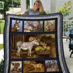 Theartsyhomes Donkey Quiani16006 3D Personalized Customized Quilt Blanket ESR47