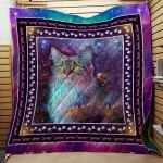 Theartsyhomes Colorful Cat And Sky 3D Personalized Customized Quilt Blanket ESR20