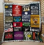 Theartsyhomes BOWLING Roll 3D Personalized Customized Quilt Blanket ESR42