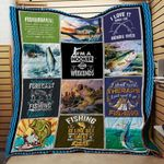 Theartsyhomes Fishing Washable Handmade 1312-01 3D Personalized Customized Quilt Blanket ESR47