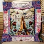 Theartsyhomes Be the you want energy to attract yoga 3D Personalized Customized Quilt Blanket ESR28
