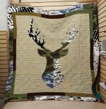 Theartsyhomes Deer: Camouflage 3D Personalized Customized Quilt Blanket ESR36
