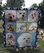 Theartsyhomes Bichon Frise Dog V2 3D Personalized Customized Quilt Blanket ESR8