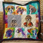 Theartsyhomes Boxer R165 3D Personalized Customized Quilt Blanket ESR20