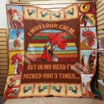 Theartsyhomes Chicken M1102 85o35 3D Personalized Customized Quilt Blanket ESR24