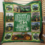 Theartsyhomes Farm.Tractor And Beer 3D Personalized Customized Quilt Blanket ESR42