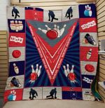 Theartsyhomes BOWLING V2 3D Personalized Customized Quilt Blanket ESR35