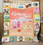 Theartsyhomes Bulldog 3D Personalized Customized Quilt Blanket ESR23