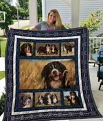Theartsyhomes Bernese Mountain Dog Qui16006 3D Personalized Customized Quilt Blanket ESR25