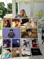 Theartsyhomes Clint Black 3D Personalized Customized Quilt Blanket ESR19