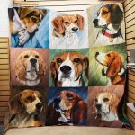 Theartsyhomes Beagle R151 3D Personalized Customized Quilt Blanket ESR10