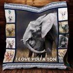 Theartsyhomes Elephant Baby P324 3D Personalized Customized Quilt Blanket ESR11