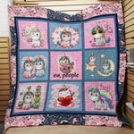 Theartsyhomes Be cool unicorn 3D Personalized Customized Quilt Blanket ESR18