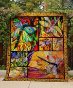 Theartsyhomes Colorfull Dragonfly V5 3D Personalized Customized Quilt Blanket ESR2