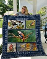 Theartsyhomes Biirds 3 3D Personalized Customized Quilt Blanket ESR39