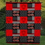 Theartsyhomes Firefighter Truck Custom Handmade 3D Personalized Customized Quilt Blanket ESR49