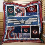 Theartsyhomes Captain America 3D Personalized Customized Quilt Blanket ESR32
