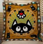 Theartsyhomes Cat hello 3D Personalized Customized Quilt Blanket ESR40