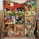 Theartsyhomes Farm Animal Printing Dml-Qvk00024 3D Personalized Customized Quilt Blanket ESR33