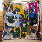 Theartsyhomes Cute French Bull R152 3D Personalized Customized Quilt Blanket ESR37