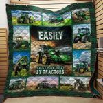 Theartsyhomes Easily Distracted By Tractor 3D Personalized Customized Quilt Blanket ESR28