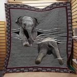 Theartsyhomes Elephant 6 3D Personalized Customized Quilt Blanket ESR5