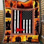 Theartsyhomes Fireman Ttd-Qht0003 3D Personalized Customized Quilt Blanket ESR16