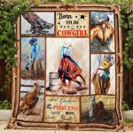Theartsyhomes Born to be a Cowgirl 3D Personalized Customized Quilt Blanket ESR46