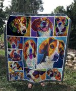 Theartsyhomes Beagle Dog V1 3D Personalized Customized Quilt Blanket ESR41