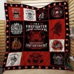 Theartsyhomes Firefighter #1114-2 Ht-4o 3D Personalized Customized Quilt Blanket ESR43