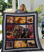 Theartsyhomes Dachshund Qui12008 3D Personalized Customized Quilt Blanket ESR22