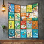 Theartsyhomes Dr.Seuss Books 3D Personalized Customized Quilt Blanket ESR30