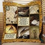 Theartsyhomes Book Writer D1202 85o33 3D Personalized Customized Quilt Blanket ESR44