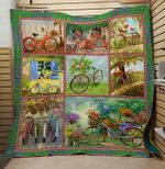 Theartsyhomes Bicycle flower 3D Personalized Customized Quilt Blanket ESR23