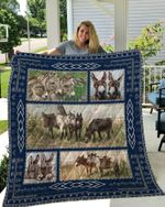 Theartsyhomes DONKEY 1 3D Personalized Customized Quilt Blanket ESR38