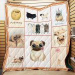 Theartsyhomes Cute Pug Dog P192 3D Personalized Customized Quilt Blanket ESR42