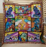 Theartsyhomes Cat 6 3D Personalized Customized Quilt Blanket ESR21