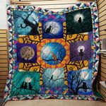Theartsyhomes Cat Watching The Moon 3D Personalized Customized Quilt Blanket ESR23
