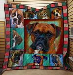 Theartsyhomes BOXER DOG 3D Personalized Customized Quilt Blanket ESR5